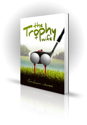 Trophy Wife - Graham Jones - Golf glub lining up behind two golf balls, with ladybirds
