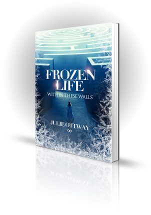 Frozen Life Within These Walls - Julie Ottway - Woman in white dress in cold white maze