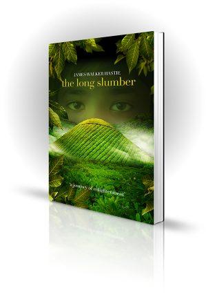 The Long Slumber - James Walker Hastie - Child's eyes looking over green hills