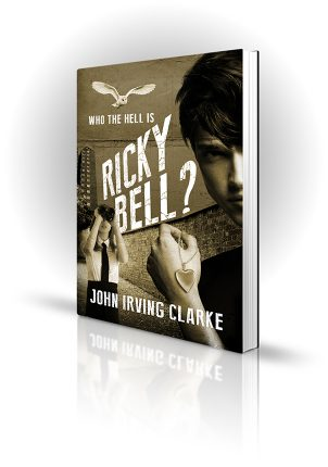 Who The Hell is Ricky Bell - John Irving Clarke - Boy holding a heart-shaped locket while a girl bird-watches an owl