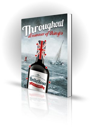 Throughout All Manner Of Things - Jean Tyrell - A boat with a bottle of wine sailing through rough seas