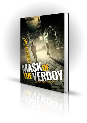 Mask Of The Verdoy - Phil Lecomber - Man in suit walking down dark alley in 1930's London