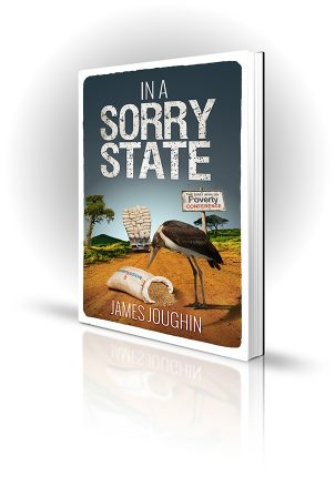 In A Sorry State - James Joughin - Bird scavenges seed from a sack that has fallen off an aid truck in Africa
