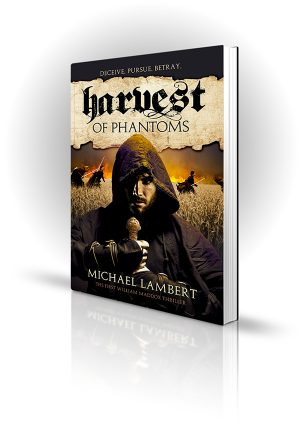 Harvest Of Phantoms - Michael Lambert - Man with a sword with more running sword men in the background