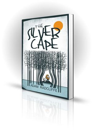 Silver Cape - Adam Radcliffe - Illustrated Lion peering through barcode trees