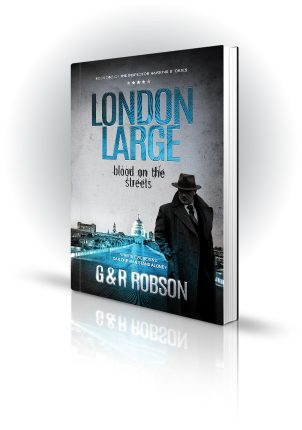 London Large - Blood On The Streets - G&R Robson - Shady man near bridge in london