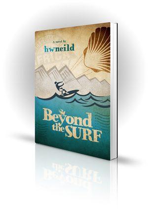 Beyond The Surf - HW Neild - Cartoon of man kitesurfing