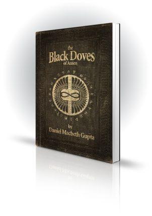 The Black Doves Of Amen - Daniel Macbeth Gupta - Old style bound book covered in runes