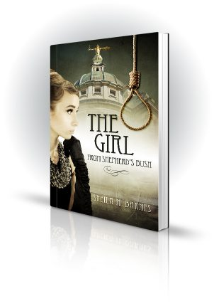 The Girl From Shepherds Bush - Sheila M. Barnes - Show girl outside a court with a noose