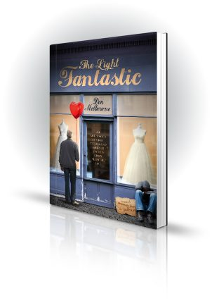 The Light Fantastic - Don Melbourne - Old man holding red heart balloon outside a dress shop