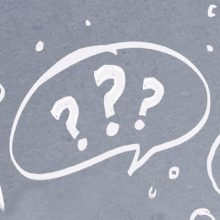 So much advice - Don't panic - Question marks in a speech bubble