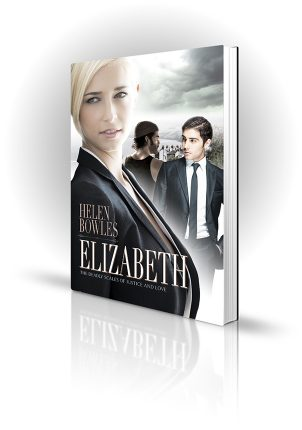 Elizabeth - Helen Bowles - Blonde Lawyer woman in front of Scarborough - Book Cover Portfolio