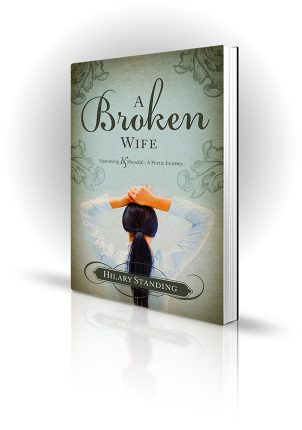 A Broken Wife - Hilary Standing - Woman with hands on her head - Book Cover Portfolio