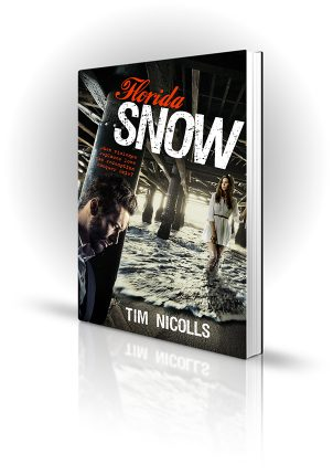 Florida Snow - Tim Nicolls - Man and woman under a pier - Book Cover Portfolio