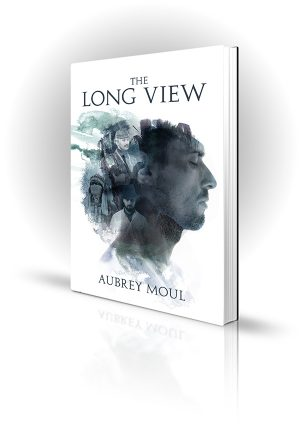 The Long View - Aubrey Moul - Silhouette of a man's head with other figures inside