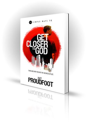 Closer To God - Matt Proudfoot - Man in a city - Book Cover Portfolio