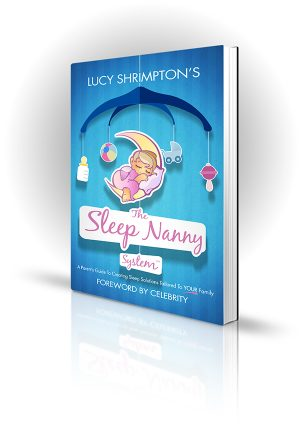 The Sleep Nanny System - Lucy Shrimpton - Cartoon baby sleeping on a mobile - Book Cover Portfolio