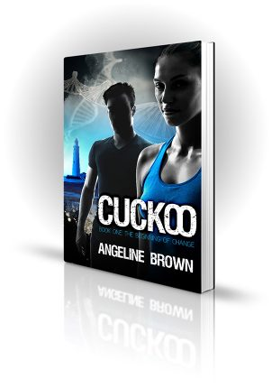 Cuckoo - Angeline Brown - Young man and young woman with DNA and a lighthouse - Book Cover Portfolio