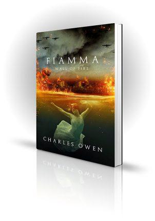 Fiamma - Charles Owen - Girl under the water during blitz - Book Cover Portfolio