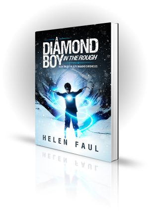Diamond Boy In The Rough - Helen Faul - Boy in the snow bending trees with his magic