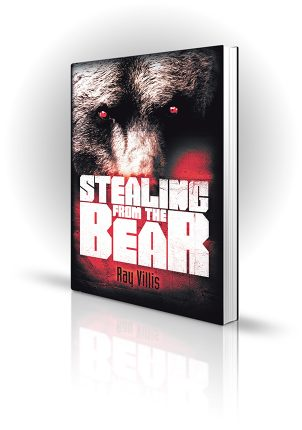 Stealing From The Bear - Ray Villis - Angry Red Bear Eyes - Book Cover Portfolio