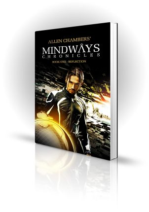 Mindways Chronicles - Allen Chambers - Man touching a glowing orb as reality phases away