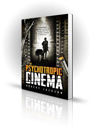 Psychotropic Cinema - Robert Jackson - War scene on film with syringe next to it