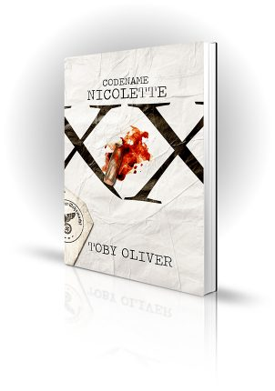 Codename Nicolette - Toby Oliver - Bloodstained bullet on Nazi report - Book Cover Portfolio
