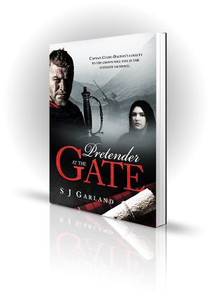 Pretender At The Gates - SJ Garland - Man with a sword in highlands - Book Cover Portfolio
