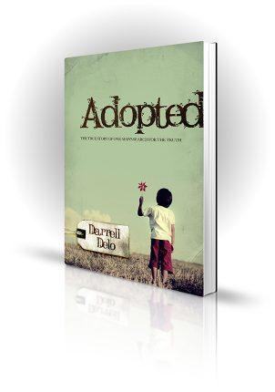 Adopted - Darrell Delo - child with a toy in an empty field - Book Cover Portfolio