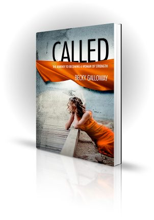 Called - Becky Galloway - Woman in orange dress laying on a wooden pier - Book Cover Portfolio