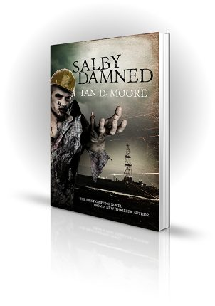 Salby Damned - Safety-conscious zombie in a hard hat is missing a finger - Book Cover Portfolio