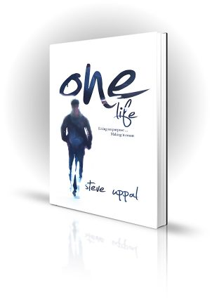 One Life - Steve Uppal - Man walking away - Book Cover Portfolio