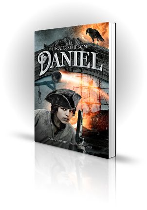 Daniel - Craig Simpson - Boy with a flintlock pistol on a ship - Book Cover Portfolio