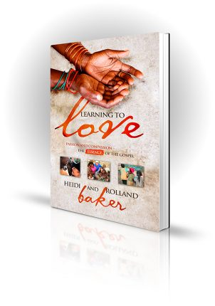 Learning To Love - Heidi and Rolland Baker - cupped hands - Book Cover Portfolio