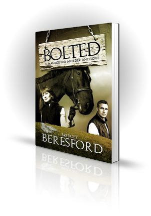 Bolted - Bridget Beresford - Man woman and a show jumper - Book Cover Portfolio