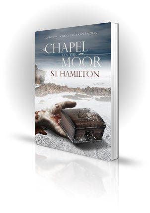 Chapel On The Moor - SJ Hamilton - Dead hand holding a wooden box in the snow - Book Cover Portfolio