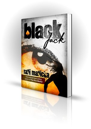 Black Jack - Rani Manicka - Large eye and silhouette of person - Book Cover Portfolio