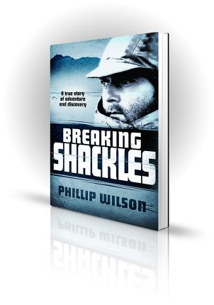 Breaking Shackles - Phillip Wilson - Explorer in the cold - Book Cover Portfolio