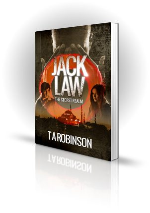 Jack Law - TA Robinson - Man covering his eyes with a man and a woman - Book Cover Portfolio