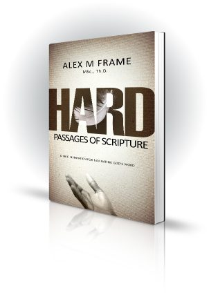 Hard Passages Of Scripture - Alex M Frame - Hand catching a white feather - Book Cover Portfolio