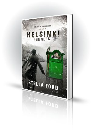 Helsinki Runners - Stella Ford - Man in the Snow - Book Cover Portfolio