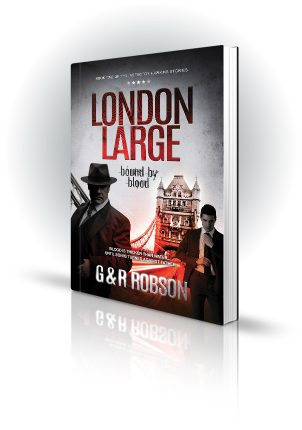 London Large - Bound By Blood - G&R Robson - Shady Man near Tower Bridge - Book Cover Portfolio
