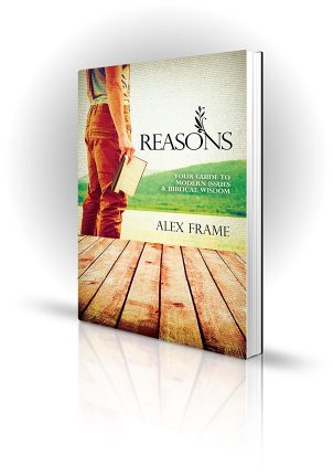 Reasons - Alex Frame - Man holding a bible outside - Book Cover Portfolio