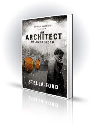 The Architect Of Amsterdam - Stella Ford - Man in the Snow - Book Cover Portfolio