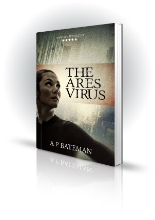 The Ares Virus - AP Bateman - Woman looking concerned in a city - Book Cover Portfolio