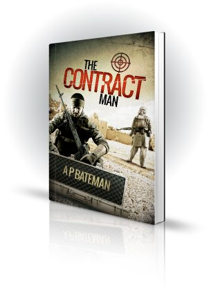 The Contract Man - AP Bateman - Military man opening military case - Book Cover Portfolio