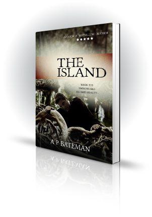 The Island - AP Bateman - Man searching through trees - Book Cover Portfolio