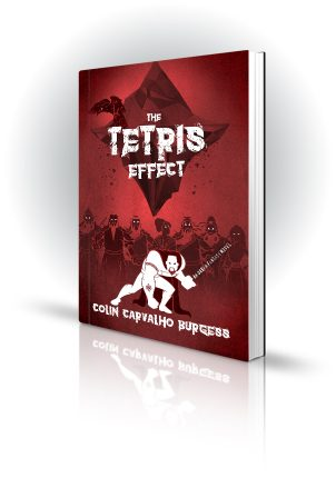 The Tetris Effect - Colin Carvalho Burgess - Cartoon warrior in front of elders